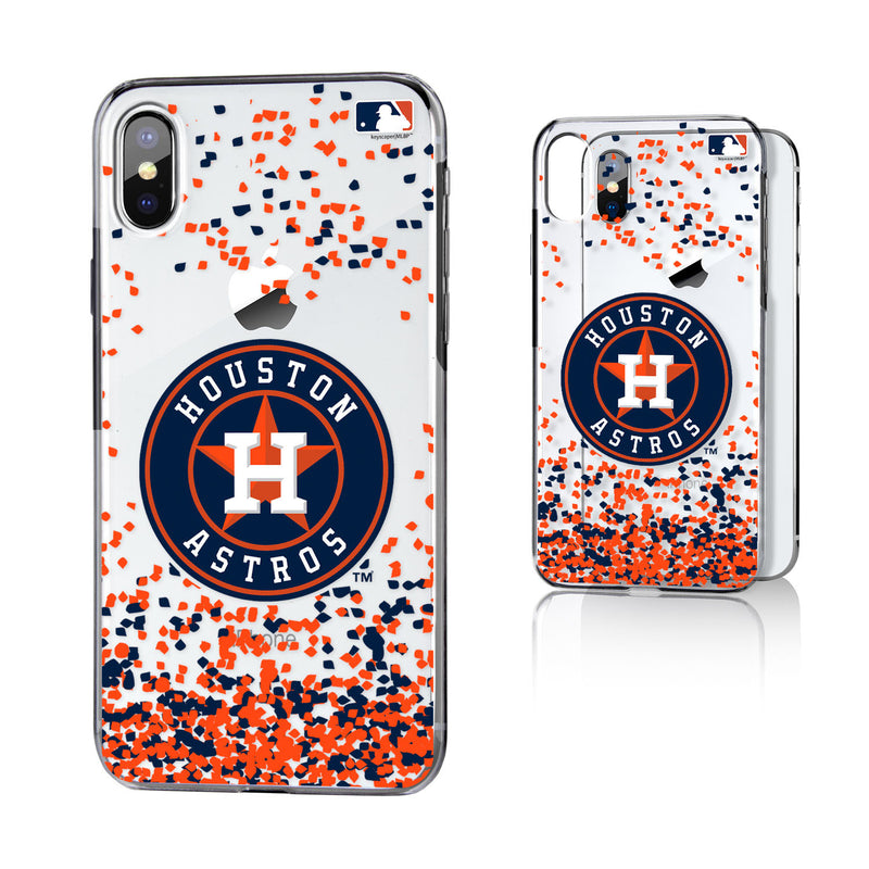 Houston Astros Confetti iPhone X / XS Clear Case