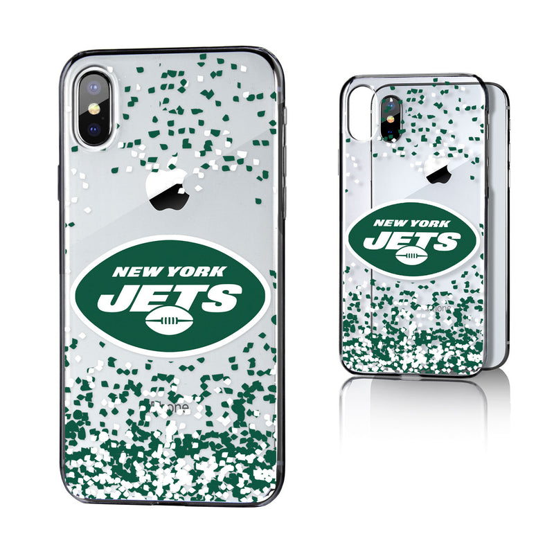 New York Jets Confetti iPhone X / XS Clear Case