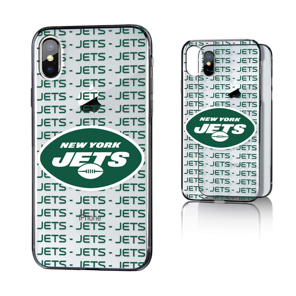 New York Jets Blackletter iPhone X / XS Clear Case