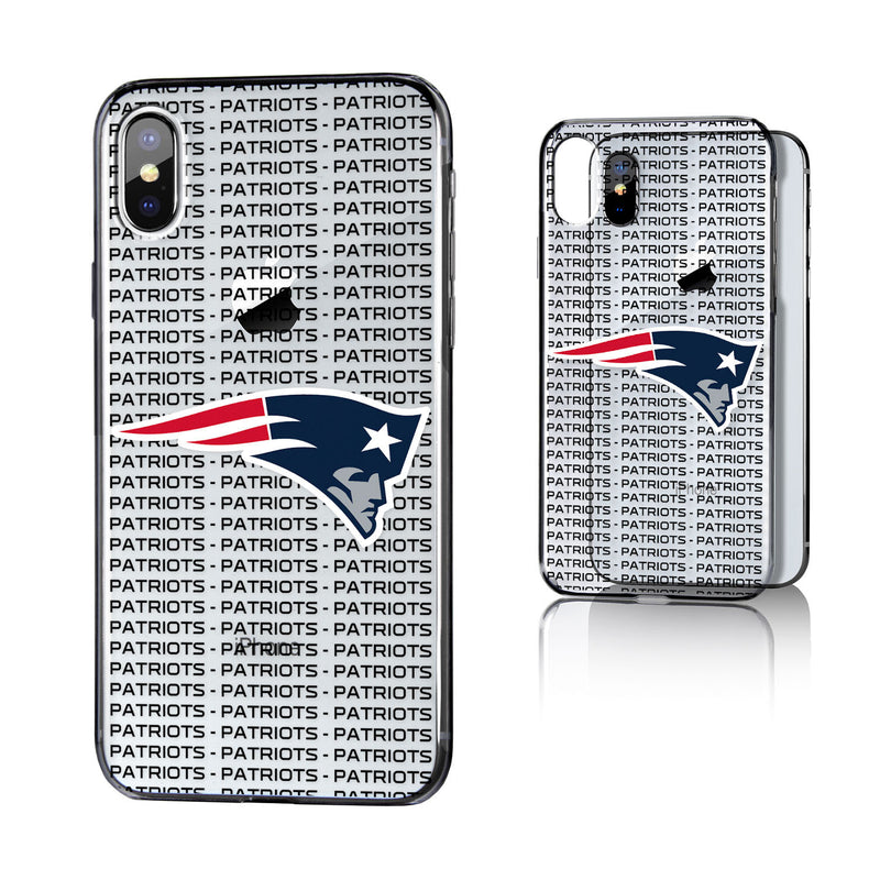 New England Patriots Blackletter iPhone X / XS Clear Case
