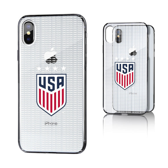 United States Womens National Team Blackletter iPhone X / XS Clear Case