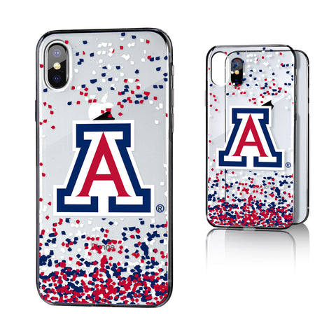 U of A Arizona Wildcats Confetti Clear Case for iPhone X