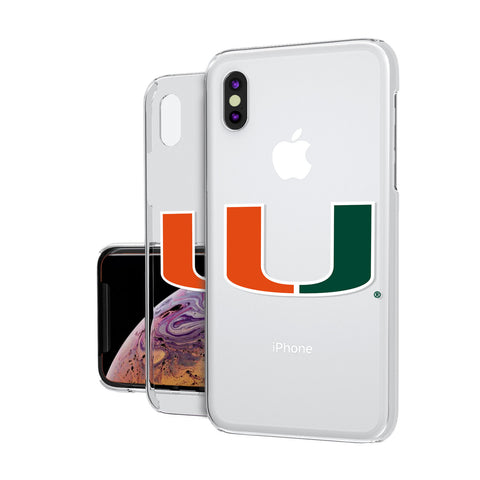 Miami Hurricanes Insignia iPhone XS MAX Clear Case