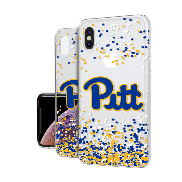 Pittsburgh Panthers Confetti iPhone XS Max Clear Case