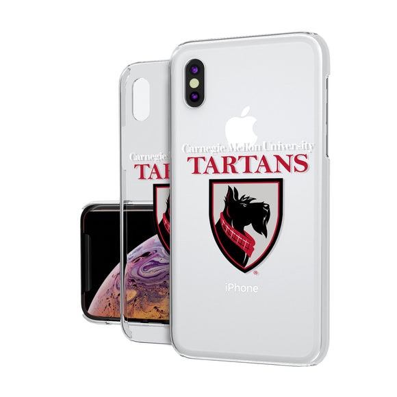 Carnegie Mellon Tartans Insignia iPhone XS MAX Clear Case