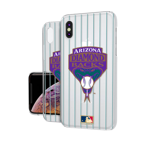 Arizona 1999-2006 - Cooperstown Collection Pinstripe iPhone XS Max Clear Case