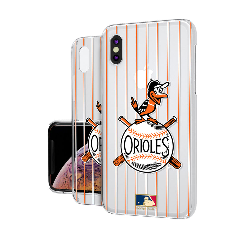Baltimore Orioles 1954-1963 - Cooperstown Collection Pinstripe iPhone XS Max Clear Case