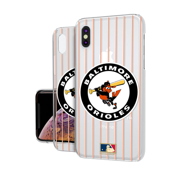 Baltimore Orioles 1966-1969 - Cooperstown Collection Pinstripe iPhone XS Max Clear Case