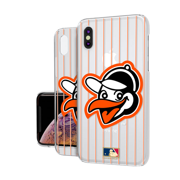 Baltimore Orioles 1955 - Cooperstown Collection Pinstripe iPhone XS Max Clear Case