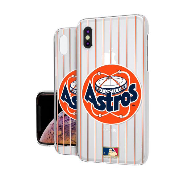 Houston Astros 1977-1998 - Cooperstown Collection Pinstripe iPhone XS Max Clear Case
