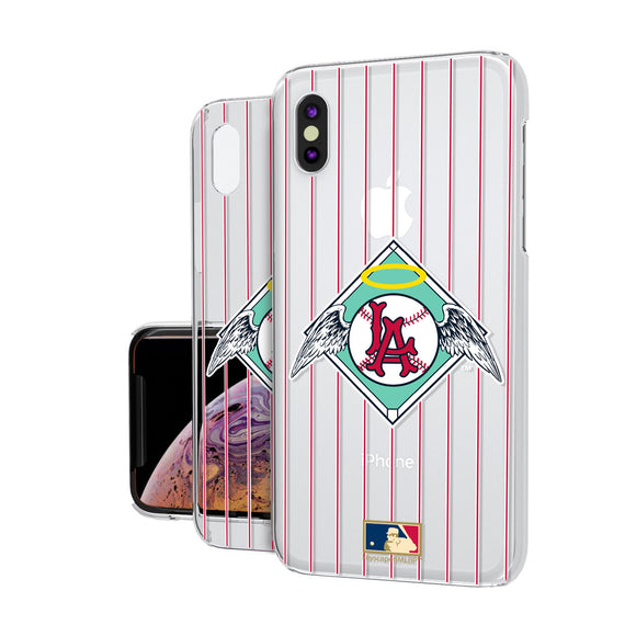 LA Angels 1961-1965 - Cooperstown Collection Pinstripe iPhone XS Max Clear Case
