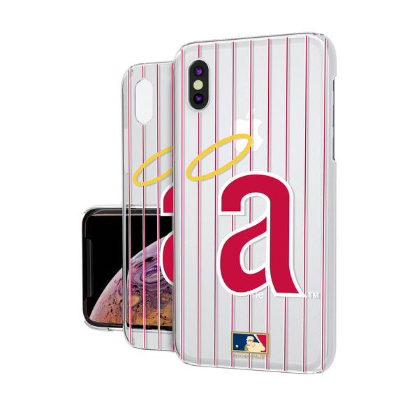 LA Angels 1971 - Cooperstown Collection Pinstripe iPhone XS Max Clear Case