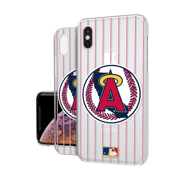 LA Angels 1986-1992 - Cooperstown Collection Pinstripe iPhone XS Max Clear Case