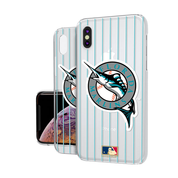 Miami Marlins 1993-2011 - Cooperstown Collection Pinstripe iPhone XS Max Clear Case