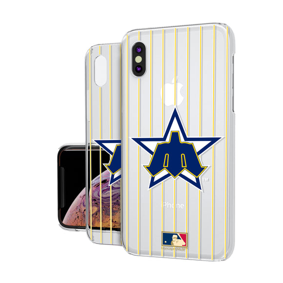 Seattle Mariners 1981-1986 - Cooperstown Collection Pinstripe iPhone XS Max Clear Case