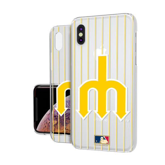 Seattle Mariners 1977-1980 - Cooperstown Collection Pinstripe iPhone XS Max Clear Case