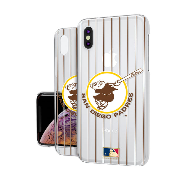 San Diego Padres 1969-1984 - Cooperstown Collection Pinstripe iPhone XS Max Clear Case