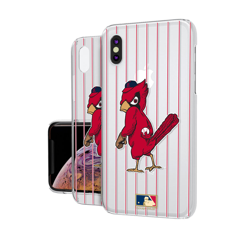 St louis Cardinals 1950s - Cooperstown Collection Pinstripe iPhone XS Max Clear Case