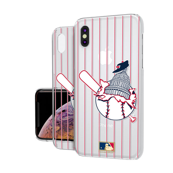 Washington Senators 1953-1956 - Cooperstown Collection Pinstripe iPhone XS Max Clear Case