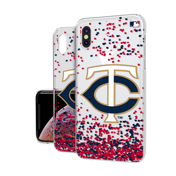 Minnesota Twins Twins Confetti iPhone XS MAX Clear Case