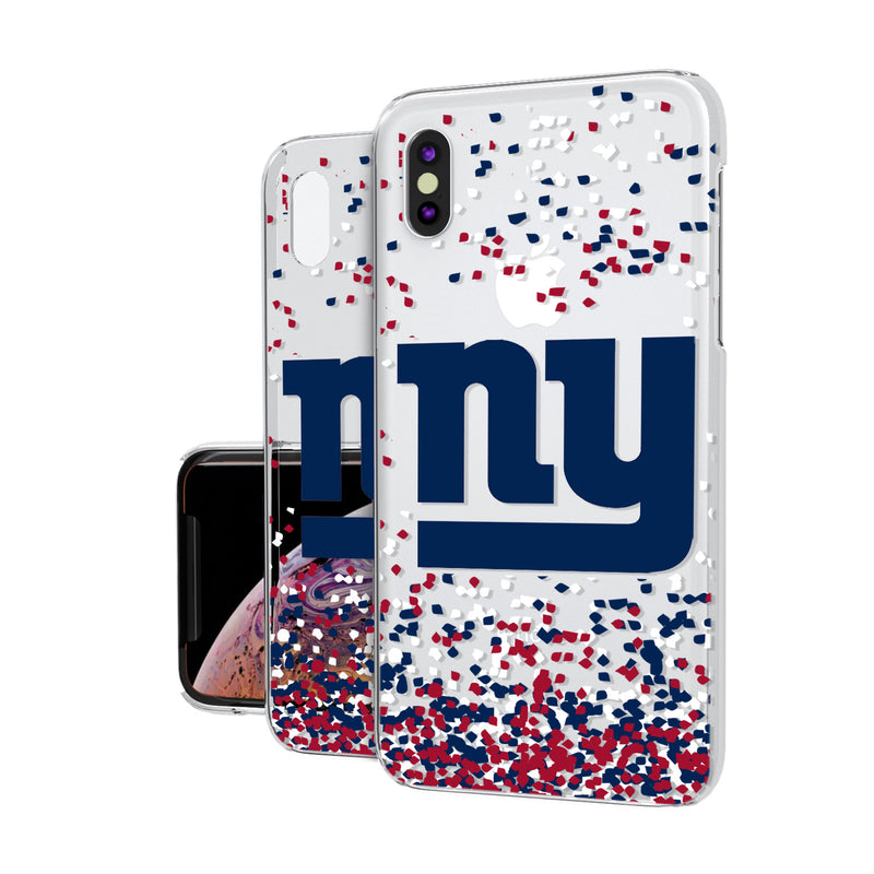 New York NY Giants Confetti iPhone XS Max Clear Case