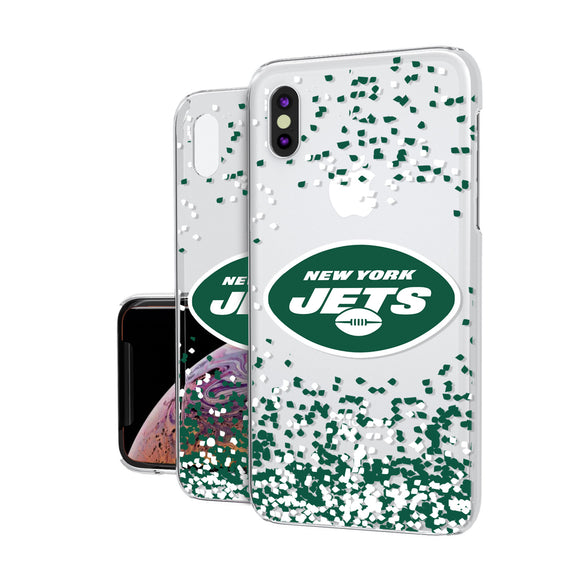 New York Jets Confetti iPhone XS Max Clear Case