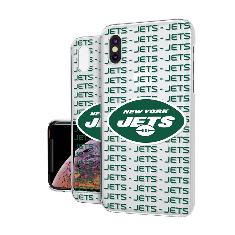 New York Jets Blackletter iPhone XS Max Clear Case
