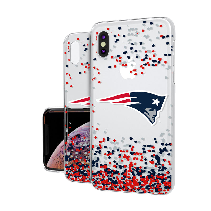 New England Patriots Confetti iPhone XS Max Clear Case