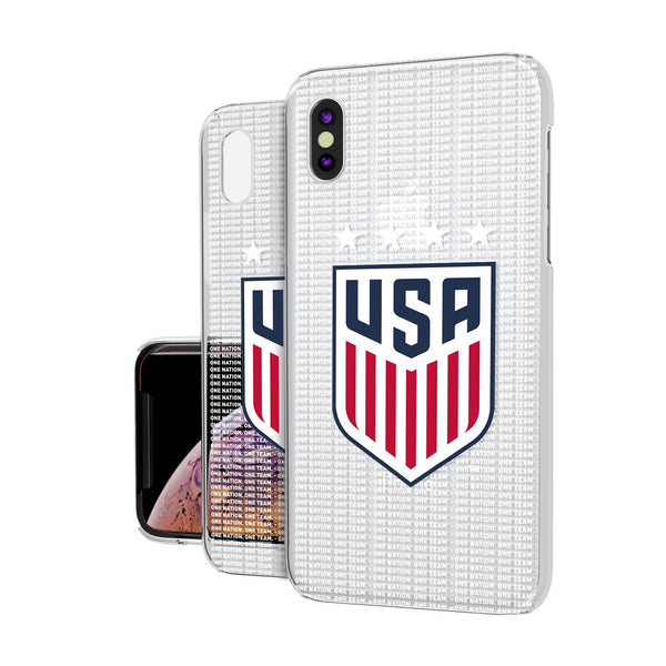 United States Womens National Team Blackletter iPhone XS Max Clear Case