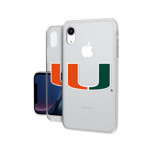 Miami Hurricanes Insignia iPhone XR Clear Case