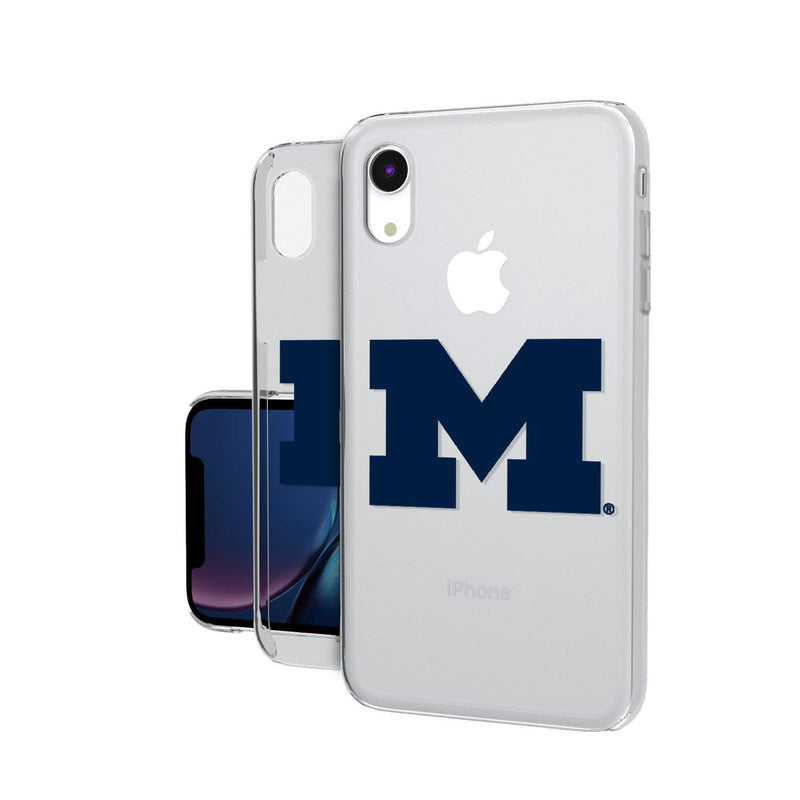 Michigan Wolverines Insignia iPhone XR Clear Case