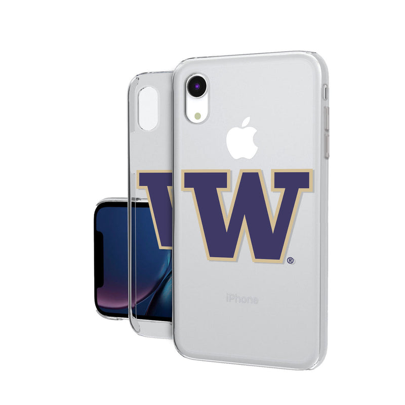 Washington Huskies Insignia iPhone XR Clear Case