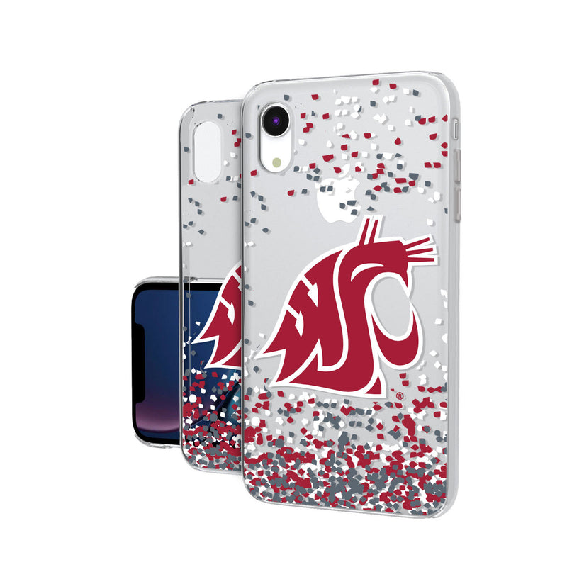 Washington State Cougars Confetti iPhone XR Clear Case
