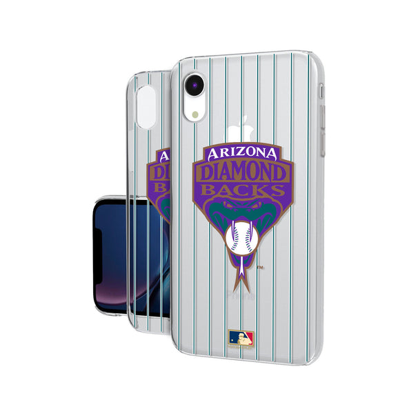 Arizona 1999-2006 - Cooperstown Collection Pinstripe iPhone XR Clear Case
