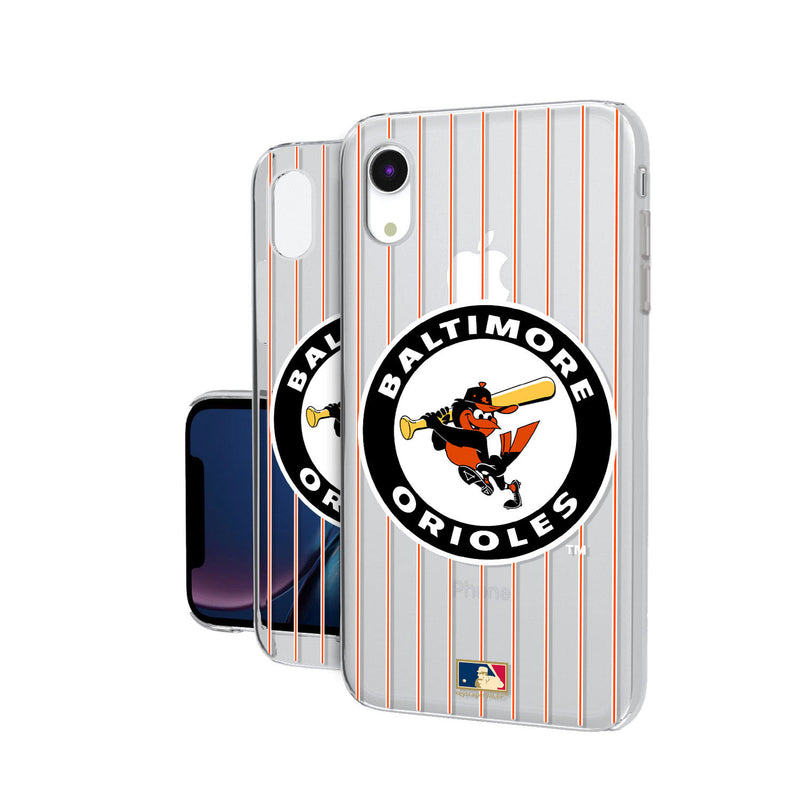 Baltimore Orioles 1966-1969 - Cooperstown Collection Pinstripe iPhone XR Clear Case