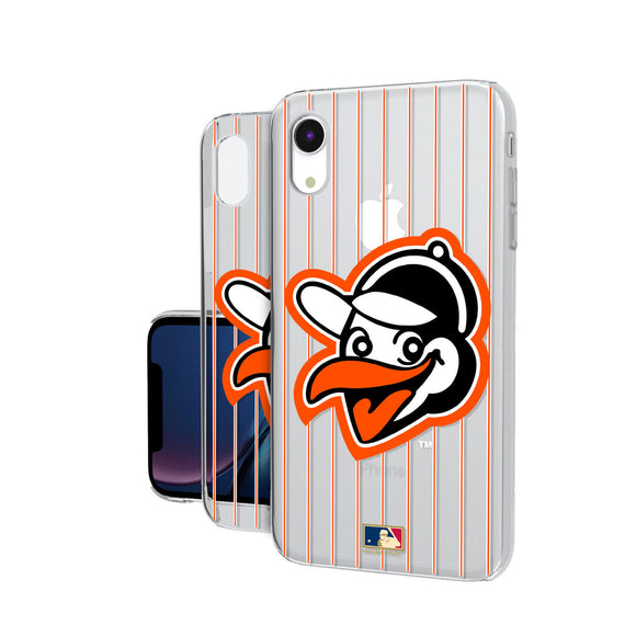 Baltimore Orioles 1955 - Cooperstown Collection Pinstripe iPhone XR Clear Case