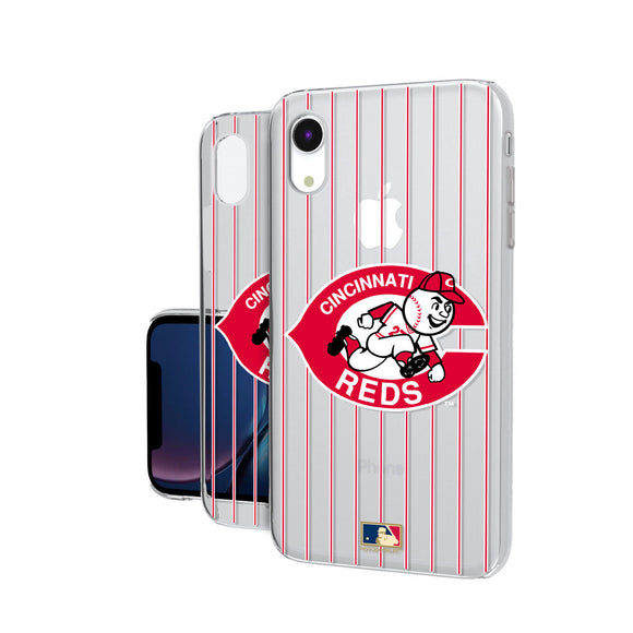 Cincinnati Reds 1978-1992 - Cooperstown Collection Pinstripe iPhone XR Clear Case