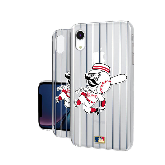 Cincinnati Reds 1953-1967 - Cooperstown Collection Pinstripe iPhone XR Clear Case
