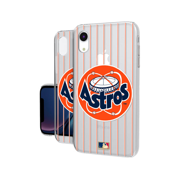 Houston Astros 1977-1998 - Cooperstown Collection Pinstripe iPhone XR Clear Case