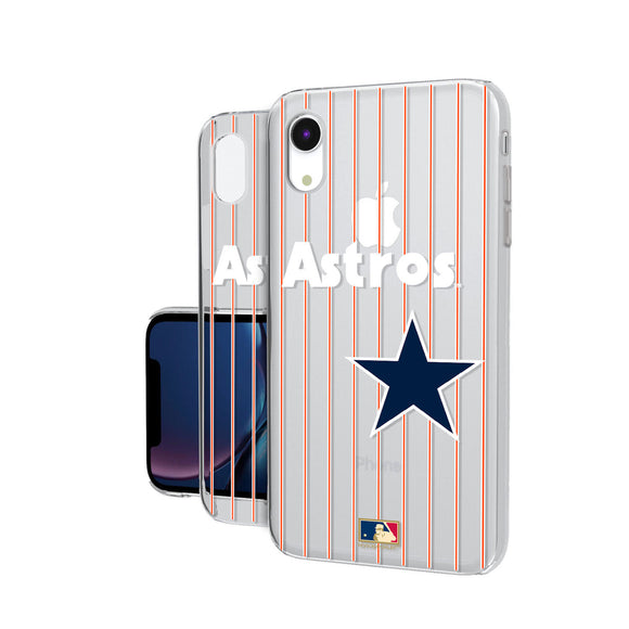 Houston Astros 1975-1981 - Cooperstown Collection Pinstripe iPhone XR Clear Case