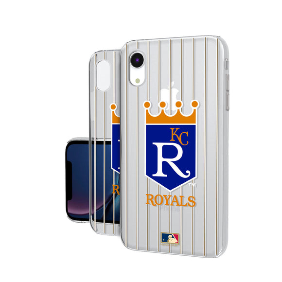 Kansas City Royals 1969-1978 - Cooperstown Collection Pinstripe iPhone XR Clear Case