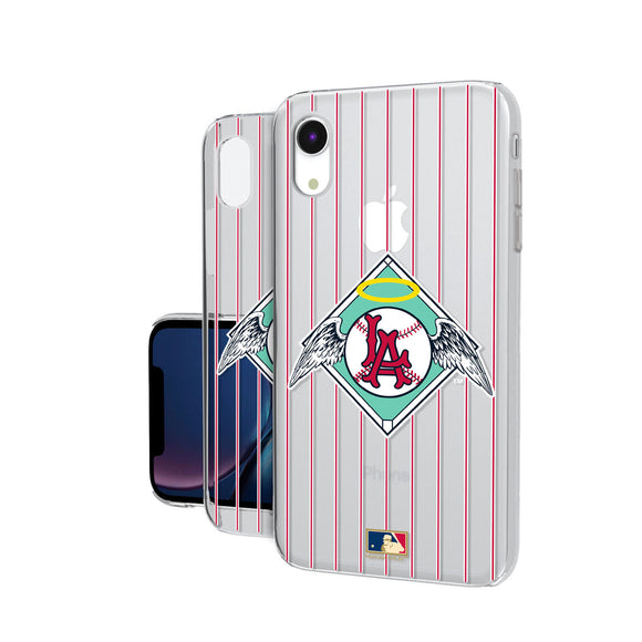 LA Angels 1961-1965 - Cooperstown Collection Pinstripe iPhone XR Clear Case
