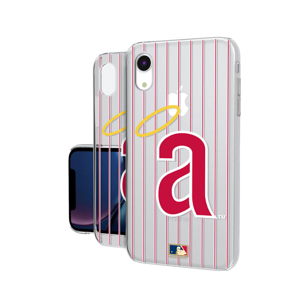 LA Angels 1971 - Cooperstown Collection Pinstripe iPhone XR Clear Case