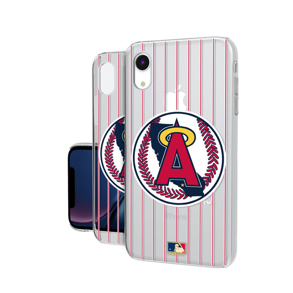 LA Angels 1986-1992 - Cooperstown Collection Pinstripe iPhone XR Clear Case