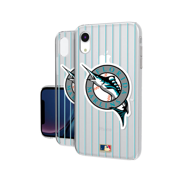 Miami Marlins 1993-2011 - Cooperstown Collection Pinstripe iPhone XR Clear Case