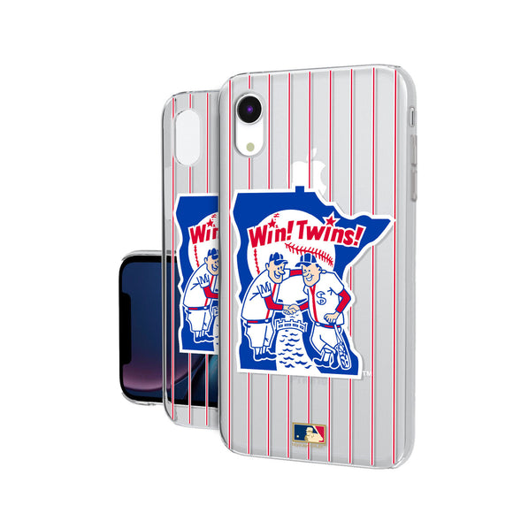 Minnesota Twins 1976-1986 - Cooperstown Collection Pinstripe iPhone XR Clear Case