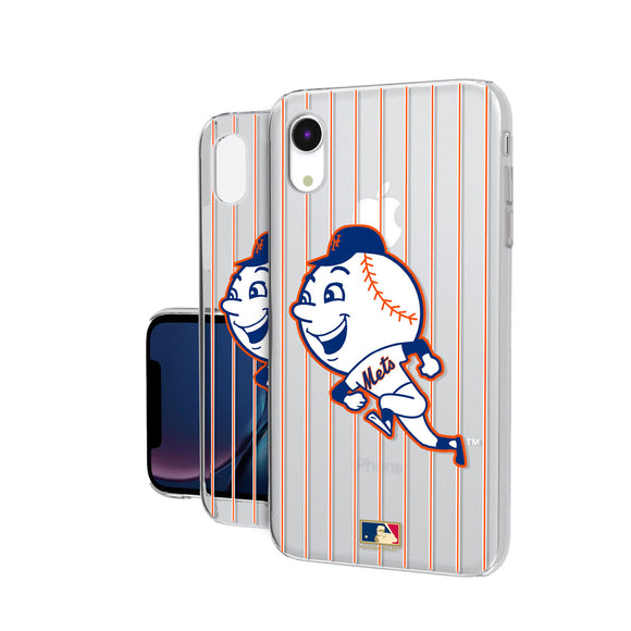 New York Mets 2014 - Cooperstown Collection Pinstripe iPhone XR Clear Case