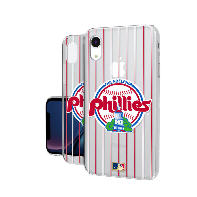Philadelphia Phillies 1984-1991 - Cooperstown Collection Pinstripe iPhone XR Clear Case