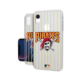 Pittsburgh Pirates 1997-2013 - Cooperstown Collection Pinstripe iPhone XR Clear Case