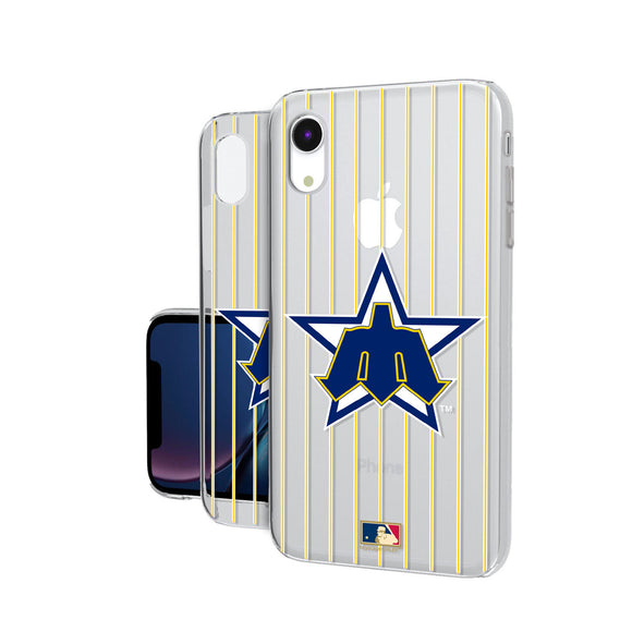 Seattle Mariners 1981-1986 - Cooperstown Collection Pinstripe iPhone XR Clear Case